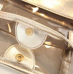 La moda bolsas de plástico transparentes en venta-2016-La nueva primavera y el verano bolsa de moda bolsa de plástico bolsa de playa transparente Corea del paquete madre de bolsa de gelatina