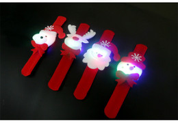 Wholesale Christmas Decoration Lighted Wrist Strap Watch Bracelet Christmas Ornaments Gift for Kids Santa Claus Snowman Deer Bear