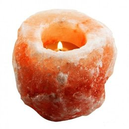 Wholesale Himalayan Crystal Salt Rock Holder Candle Air Purifying Hand Carved Tea Light Salt Lamp Completely Natural Ionic Air Purifier