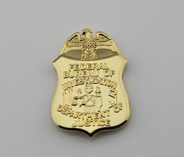 Wholesale Replica police cop metal badge high quality federal bureau of investigation department of justice normal size