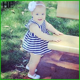 2016 children vestidos Baby girls clothes kids casual Children Clothing lace Bowtie sleeveless Stripe Dress Shorts sets + Shorts Dress
