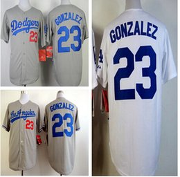 Wholesale Mens Stitched Jersey Los Angeles Dodgers Adrian Gonzalez Baseball Jersey top quality Color White Gray Blue