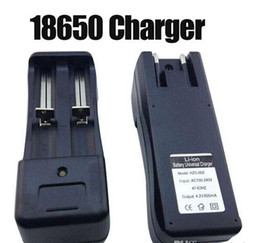 18650 18350 Chargers Battery Chargers Dual Slots Universal Charger for Rechargeable Li-ion 18650 18350 18500 26650 16340 Batteries EU US