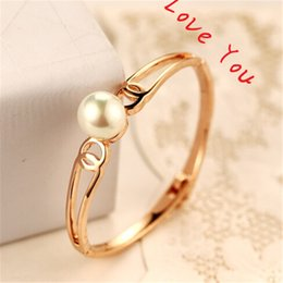 Pearl Charms Bangles Vintage Gold Plated Chunky Bangles & Bracelets Fashion Jewelry Women Accessories as gift
