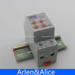 Wholesale 40A V Din rail automatic reconnect over voltage and under voltage protection protective device relay with adjustable button