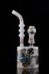Wholesale CHEECH GLASS Bong RANDOM ART SKETCH Bubber Water Pipe Rigs Oil Dab Hookah With Bowl Piece GLASS NAIL