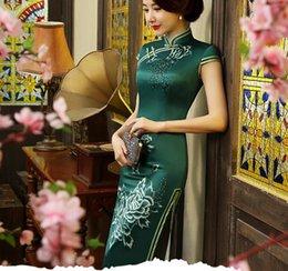 Wholesale 2016 new long style cinese tradinal cheongsam chinese dress