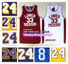Wholesale Complete Logo name Stitched Swingman SW Kobe Bryant Los Angeles Lower Merion Basketball Jersey Cheap Retro All star Short sleeve