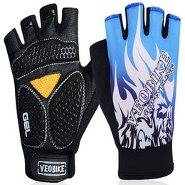 Wholesale Bicycle gloves Cycling gloves outdoor sports fitness weight lifting climbing bicycle riding protective semi finger gloves