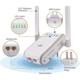 Wholesale Wireless N WiFi Range Extender Wireless Access Point Support AP Reapter Router Client and Bridge Modes dbi Antennas Signal Boosters DHL