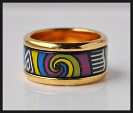 Allen Memorial Series rings 18K gold-plated enamel rings Top quality ring for women band rings for gift