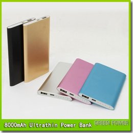 8000mah power bank for mobile phone Ultra thin slim powerbank Tablet PC External battery