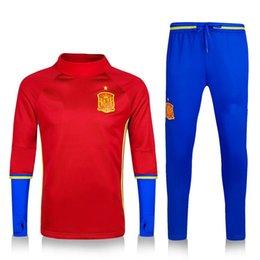 Services de l'équipe à vendre-Personnalisation de vêtements en gros 16-17 national espagnol équipe de football jersey jogging pantalon Espagne national équipe de football service de formation qua
