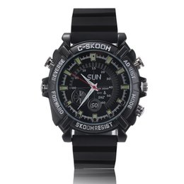 Wholesale W1000 P HD Spy wrist Watch Camera DVR Hidden Cam Video Recorder IR Night Vision Waterproof