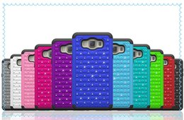 Wholesale sam J7 luxury diamond phone case Samsung j710 with diamond phone shell drop resistance Buy to send five
