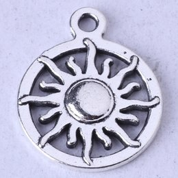 SUN ring Pendant antique Silver bronze pendant fit Necklace DIY Jewelry Zinc alloy 300pcs lot 60z