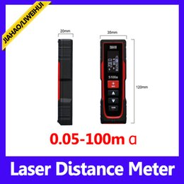 portable distance meter 100m precision rangefinder measuring laser with retail packing MOQ=1 free shipping