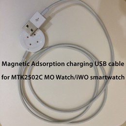 Wholesale 1pcs Brand New Replacement Magnetic Adsorption Type Charging Cable USB Data Charger Cable for MTK2502C MO Watch iWO Smart Watch