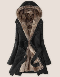 Wholesale New Ladies Fashion Winter jacket winter outerwear winter clothes Faux fur lining women s fur jackets Parka Overcoat Tops
