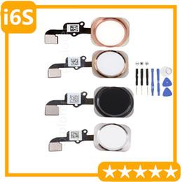 1PCS for iPhone 6S 4.7 5.5 Plus Home Button Flex Cable Return Key Flex Cable Ribbon Assembly Rose Gold Black white