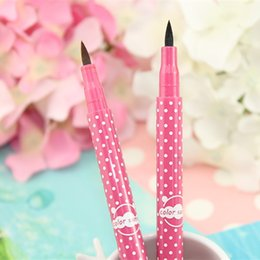 Wholesale Eyes Makeup Cosmetics Color Sunny Liquid Eye Liner Pen Easy Remover Not Blooming Waterproof Eyeliner Pencil Factory Direct Hot xf