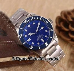 Wholesale New Luxury Brand Luxury Watch Pelagos TB Blue Automatic Mens Watch Black Dial TN Stainless Steel Strap Gents Cheap Best Watches