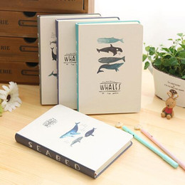 Wholesale quot Seabed Whales quot Hard Cover Blank Art Papers Diary Cute Planner Sketchbook Notebook School Study Travel Journal Agenda Notepad Gift
