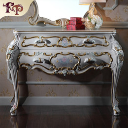 Wholesale French provincial furniture Luxury European royalty classic bedroom furniture dressing cabinet Luxury European style dressing table