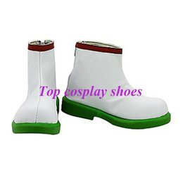 Wholesale-Freeshipping custom-made anime Hozuki no Reitetsu Shirasawa White PU Leather Cosplay shoes boots #GAI0171