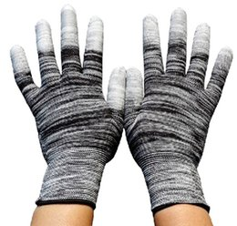 13 Gauge Nylon Finger Coating PU Glove Safety Labor Glove For Precision Operation Protective Working PU Gloves