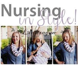 Wholesale Women Fashion Chevron Infinity scarf Baby Nursing Scarf Nursing cover Nursing Scarves Fashion Zig Zag Scarf Baby Shower L234 M