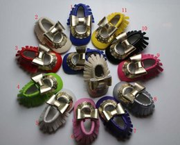 mary jane style moccasins PU baby tassels shoe Baby Infant walking Shoes Girls first walker tassel shoes 11colour