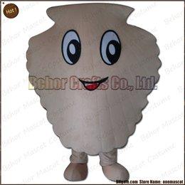 Costume de mascotte de commande en Ligne-Costume de mascotte de coquille la livraison libre, adulte bon marché de bande dessinée de mascotte de mascotte de peluche de haute qualité, acceptent l'ordre d'OEM.
