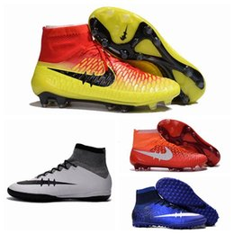 2016 Soccer Cleats Men Football BOots Magista OBra FG Soccer Shoes CR7 Superfly Champions League Soccer Boots Blue 100% Original asesino