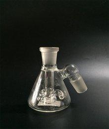 Wholesale Grace Mini Beaker Recycler Glass Bong Hand Blown propeller fan glass ash catcher Inch Oil Rig Bubbler Small Bongs Dab Rig