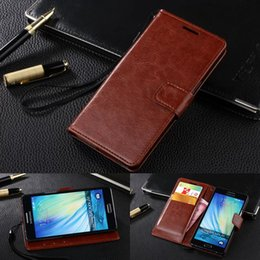 For Samsung A5 Genuine Leather Case Luxury Flip Cover For Samsung Galaxy A5 Real Skin Wallet Case