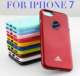 Wholesale For iPhone Plus Mercury Fashion Cases Pearl Powder Paint TPU Soft Case Cover for iPhone S Plus Samsung Galaxy S7 edge S7 S6 Candy Color
