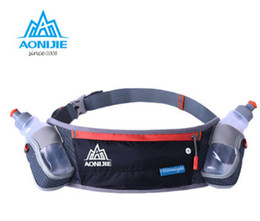 Wholesale-AONIJIE Running Hydration Belts Bottle Holder Belt Reflective Running Water Belt Fanny Pack Men Women Waist Packs