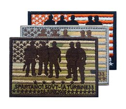 GPS-037 3.5*2.4 inch US Red Wings action Embroidered Morale patches with magic tape The last survivor armband badge GAME Film patch