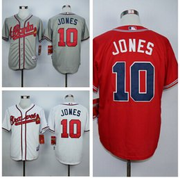 Wholesale Mens Atlanta Braves Baseball Jerseys Chipper Jones Stitched Home Road Alternate Top Quality