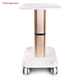 New Arrival Salon Beauty Equipment Use Trolley Stand Styling Pedestal Rolling Cart Roller Wheel Aluminum ABS
