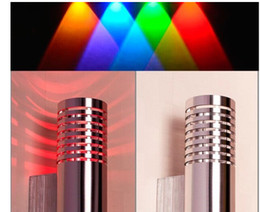2W Bathroom Wall Lamp LED for Home Hotel Modern Decoration AC 85~265V Red Blue Green White Warm whtie Light Color Silver Housing CE ROSH