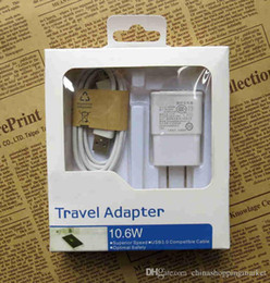 Wholesale Quick Charge in EU US Plug Adapter Wall Charger Kits USB cable Data Sync Cable For Samsung Galaxy S4 S5 S6 S7 EDGE Note