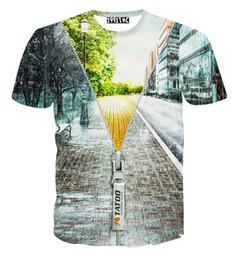 tshirt Men's funny t-shirt print winter zipper 3 d short sleeve Hip Hop casual t shirt summer tops street wear B45