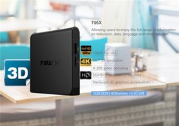 Wholesale KODI T95X Amlogic S905X android tv box Quad Core GWifi M LAN G8G H MXQ k TV BOX