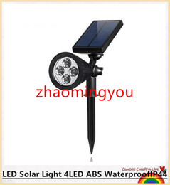 YON LED Solar Light 4LED ABS WaterproofIP44 Solar Power Energy Garden outdoor Ligh RGB WarmWhite White led solar lamp