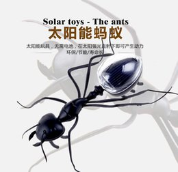 Wholesale whilesalecartoon Ants solar powered car toy trade simulation insects grasshopper cockroach bee scarab beetle car