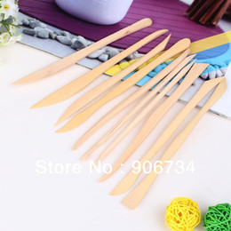 Wholesale Vktech Wooden Clay Sculpture knife Pottery Sharpen Modeling Tools Set
