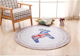 Wholesale Diameter cm cm Round Soft Anti Slip Floor Mat Carpet Bedroom Living Room Water Absorption Rug