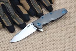 "Zero Tolerance Rick Hinderer 0392 Factory Custom Knife (3.5"" satin) ZT Flipper ball-bearing pivot EDC Folding blade Pocket knives"